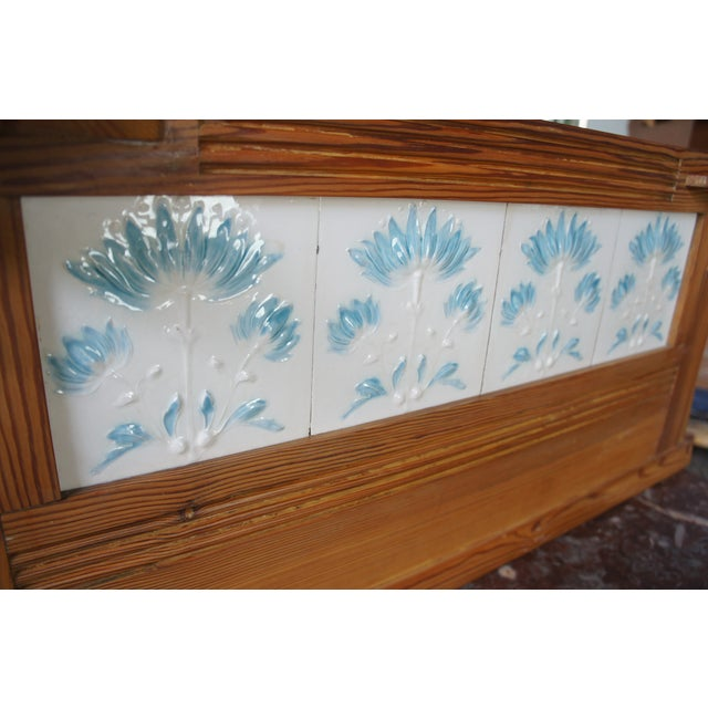 Victorian Antique Pine Marble Top Storage Cabinet For Sale - Image 11 of 13