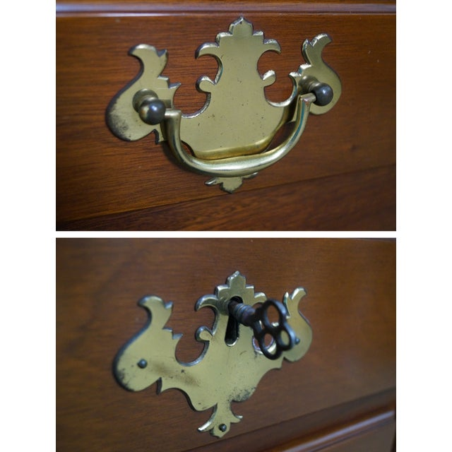 Queen Anne Style Solid Mahogany Low Boy - Image 9 of 10