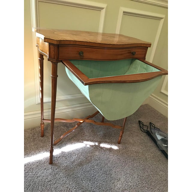 Satinwood 19th Century Edwardian Sewing Table For Sale - Image 7 of 8
