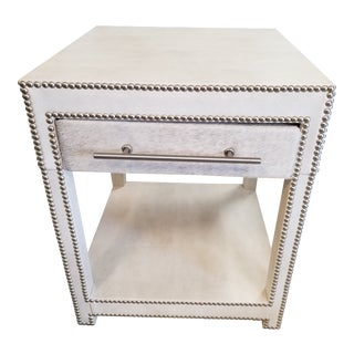 Modern Leather End Table For Sale