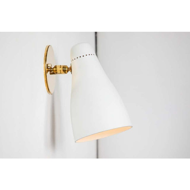 Mid-Century Modern 1950s Gino Sarfatti Perforated Cone Sconces for Arteluce - a Pair For Sale - Image 3 of 13