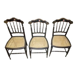 19th C. Hitchcock Chairs - Set of 3 For Sale