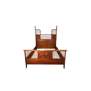 1950s Vintage Tobey Furniture Co. Bed For Sale