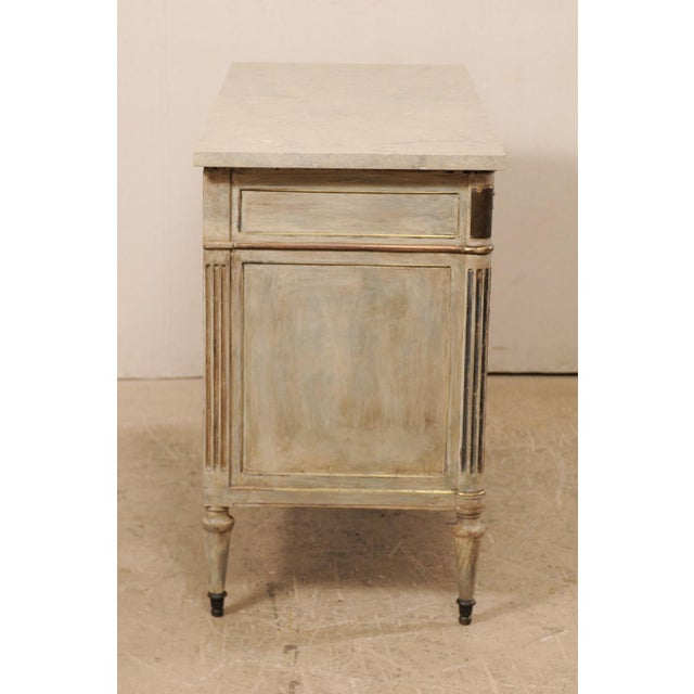 Mid 19th Century French Carved Wood Commode With Limestone Top For Sale - Image 10 of 12