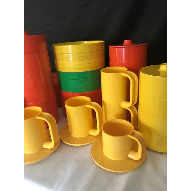 Plastic Italian Massimo Vignelli for Heller Melamine Multi-Colors Dinnerware Set - 83 Pieces For Sale - Image 7 of 13