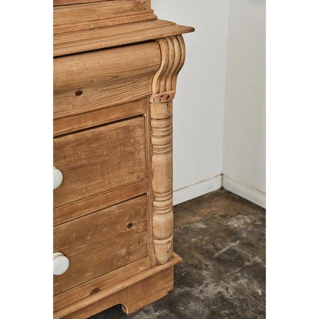Ceramic Pine Cabinet W/Blue Interior For Sale - Image 7 of 10