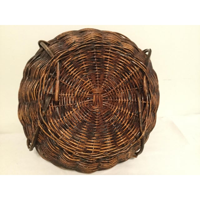 1990s Brown Decorative Basket For Sale - Image 5 of 8
