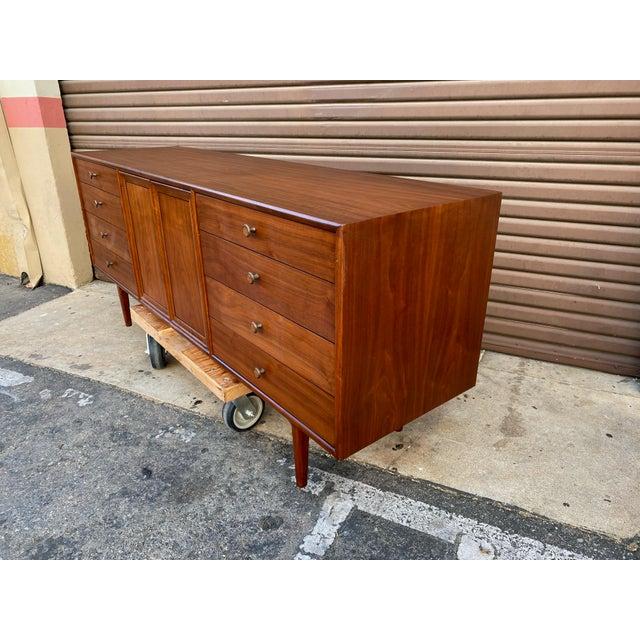 Mid-Century Modern 1960s Kipp Stewart for Drexel Mid Century Modern Walnut Credenza For Sale - Image 3 of 12