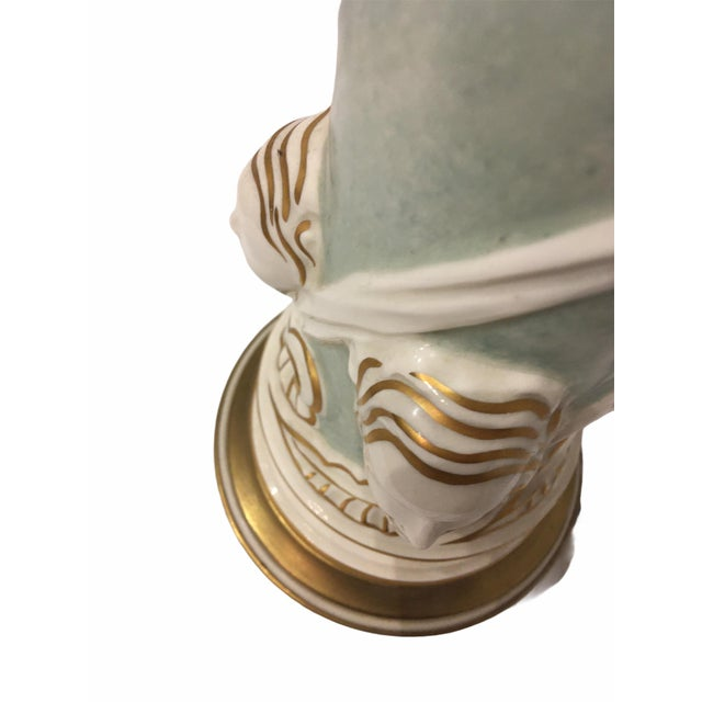 Ceramic Vintage Ceramic Hollywood Regency Table Lamp by Rembrandt For Sale - Image 7 of 9