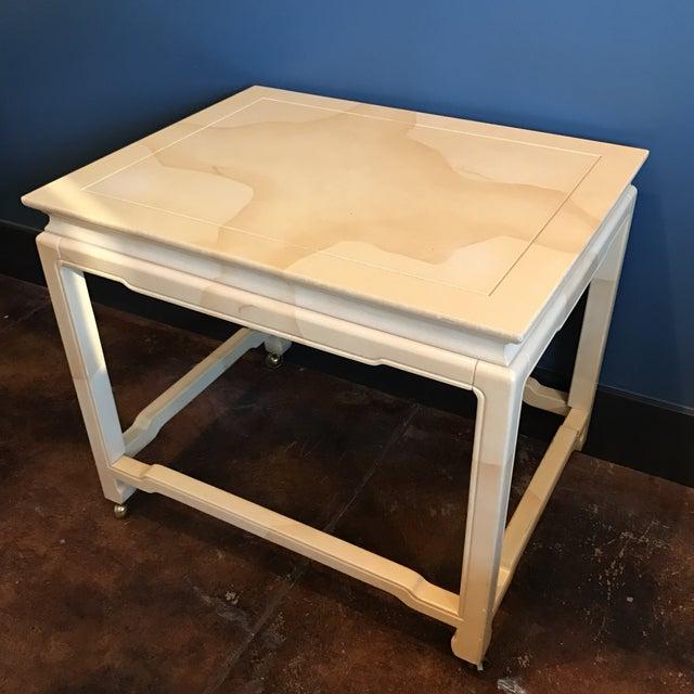 Henredon Chinoiserie Goatskin Lacquer Table - Image 2 of 11