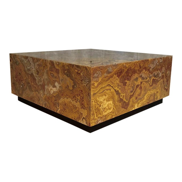 Mid Century Specimen Agate Coffee Table For Sale