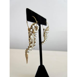 Oaxacan Mexican Gold and Pearl Bridal Earrings - a Pair Preview