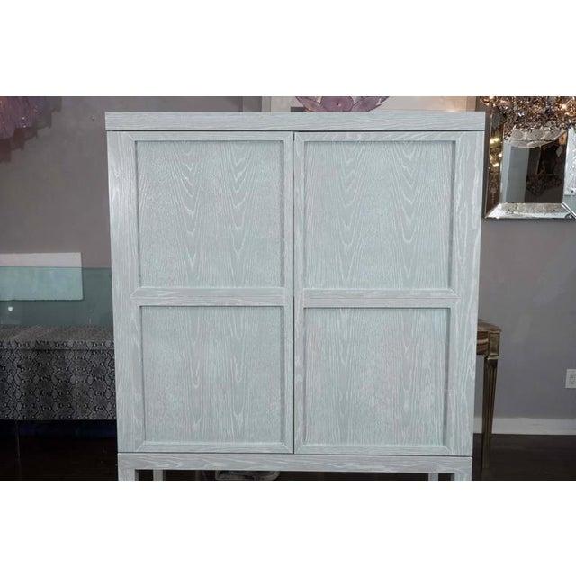 Modern Custom Gray Cerused Bar For Sale - Image 3 of 10