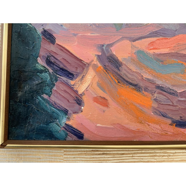 Mid-Century Seascape Painting For Sale In Chicago - Image 6 of 10