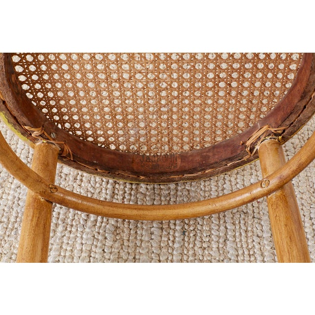 1900 - 1909 Pair of J. And J. Kohn Austrian Bentwood and Cane Chairs For Sale - Image 5 of 13