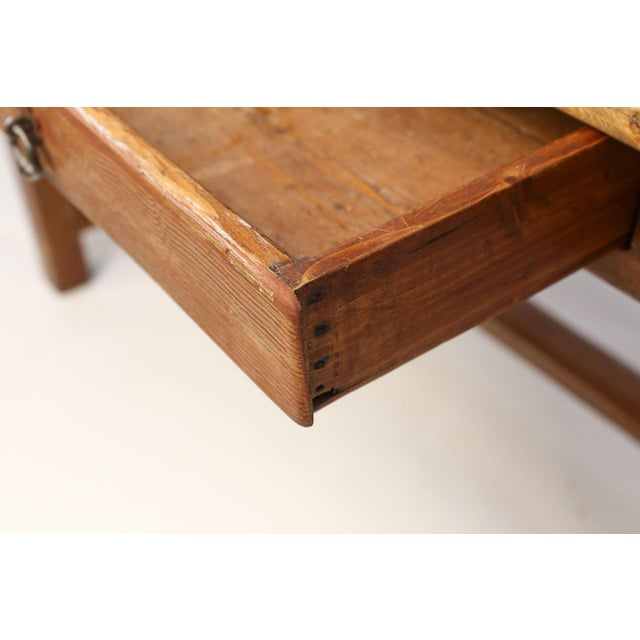 Late 19th Century Faux-Grain Painted French Farm Table For Sale - Image 5 of 13