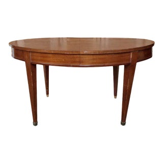 French 1940s Mahogany Oval Dining Table For Sale