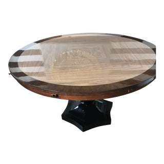 Two Tone Wood High Polyurethane Finish Dining Table For Sale