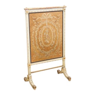 1900s French Needlework Screen For Sale