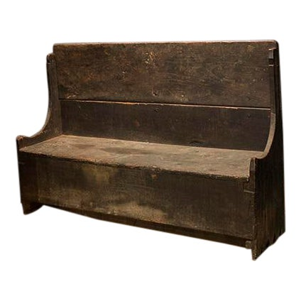 Italian Chestnut Bench With Folding Back For Sale