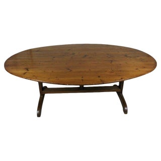 19th Century Traditional Wine Tasting Table For Sale