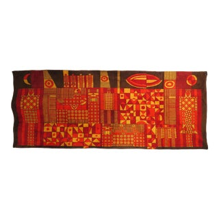 1950s Eastern European Abstract Modernist Art Tapestry For Sale