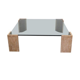 Super Close Out Sale !! Mid-Century Modern Maitland-Smith Tessellated Marble and Copper Coffee Table For Sale
