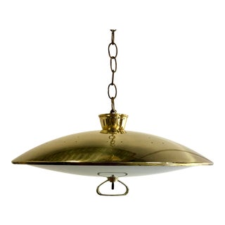 Mid Century Atomic Modern Brass Pendant Lamp For Sale