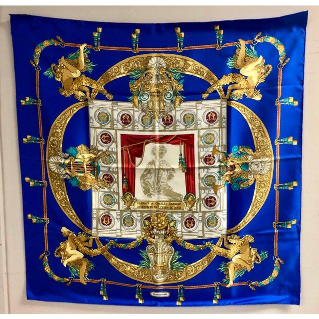 Silk Hermès Homage a Charles Garnier Silk Scarf For Sale - Image 7 of 7