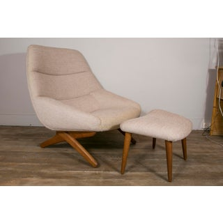 Lounge Chair and Ottoman by Illum Wikkelso, Denmark, 1960