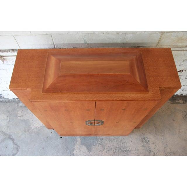 Baker Furniture Art Deco Style Burlwood Armoire - Image 9 of 11