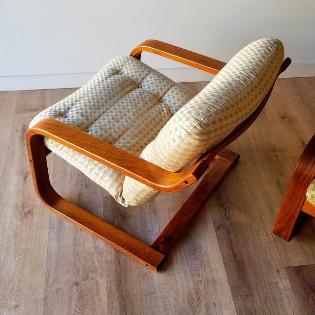 Westnofa Furniture 1970s Westnofa Bentwood Lounge Chairs - a Pair For Sale - Image 4 of 13