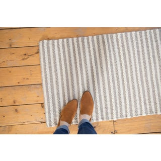 "Gray and White Striped Wool Runner - 2'6"" X 8' Preview"