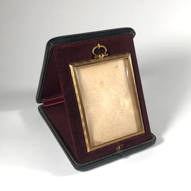 Metal Antique Bronze Travelling Picture Frame For Sale - Image 7 of 7