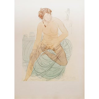 1959 Auguste Rodin, Nude Woman Large Hungarian Lithograph For Sale