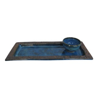 Hand-made Nautical Serving Tray and Bowl For Sale