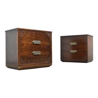 Stanley Furniture 'Havana Crossing' Three Drawer Nightstands - a Pair For Sale
