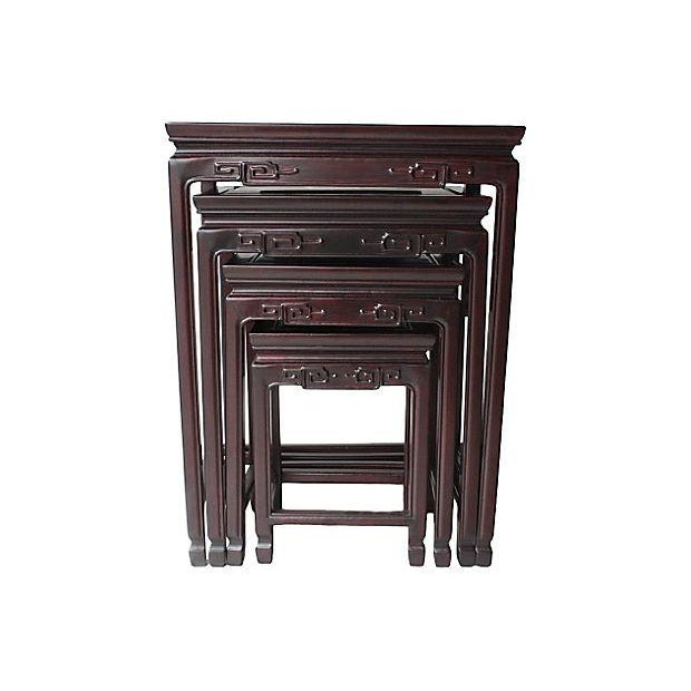 Chinese Rosewood Nesting Tables - Set of 4 - Image 3 of 5