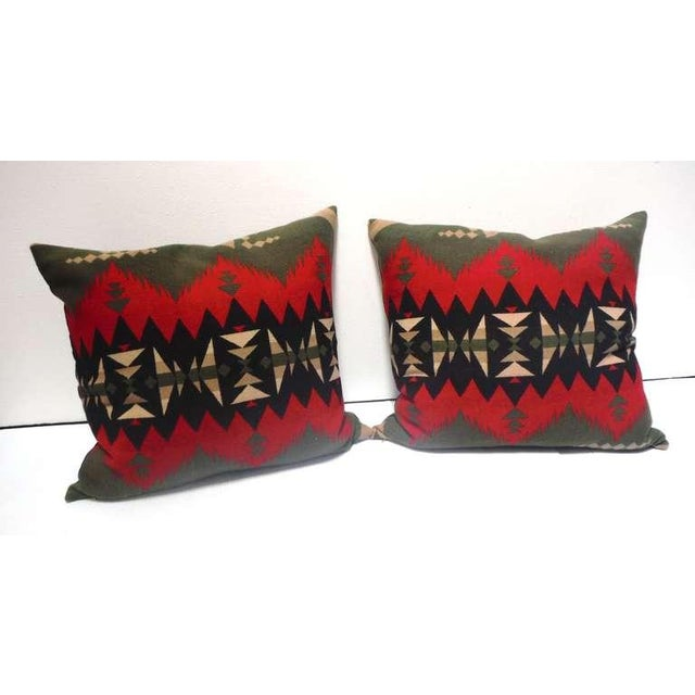 These fantastic color and pattern Indian blanket pillows are in pristine condition and have black linen backing. These...