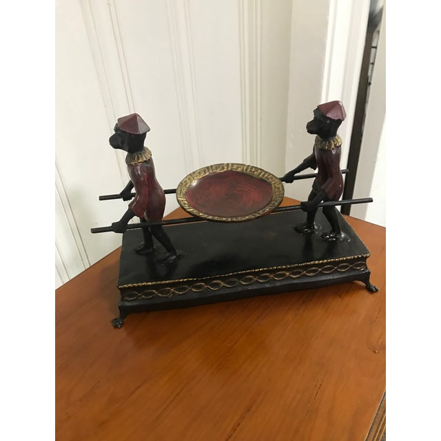 Hand Painted Monkey Calling Card Tray For Sale In Charleston - Image 6 of 11