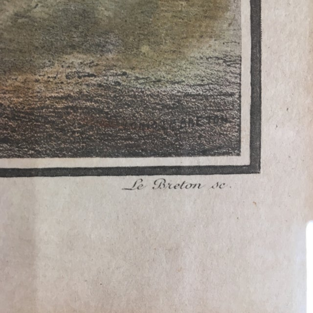 Early 19th Century Lithograph of Boston (Deuxieme Vue De Boston) by Le Breton, Framed For Sale In Washington DC - Image 6 of 7