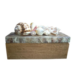 Philippine Mosaic Shell Box For Sale