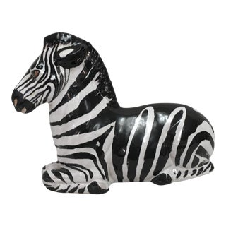 Mini Italian Terra-Cotta Zebra