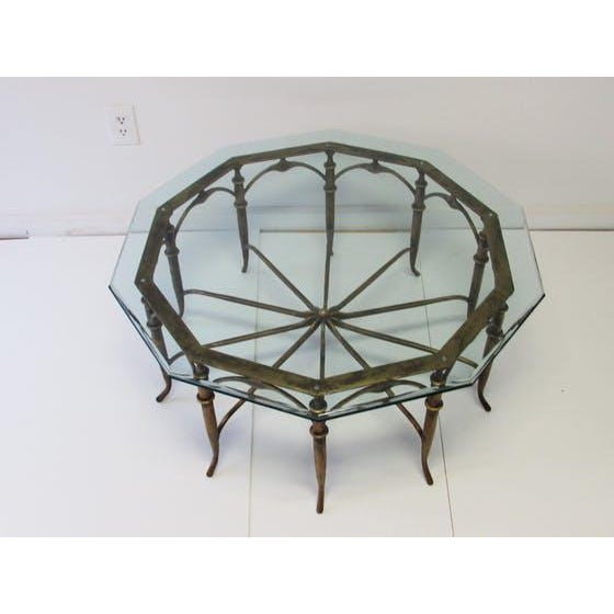 Italian Carlo Di Carli Style Spider Leg Coffee Table - Image 3 of 5