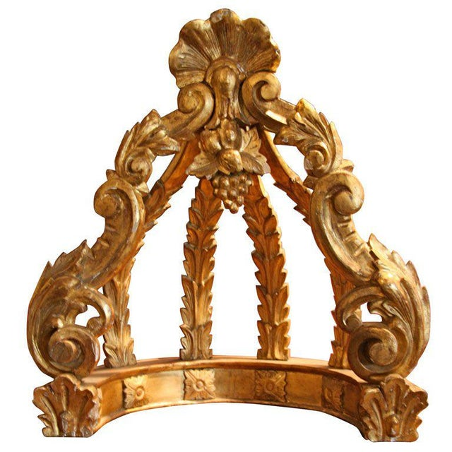 Gold Leaf Italian 19th C. Gold Leaf Crown For Sale - Image 7 of 7