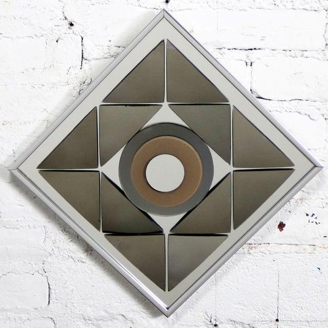 Modern Pop Art Op Art Geometric Trio of Framed Mirror Wall Sculptures by Hal Bienenfeld For Sale - Image 3 of 13