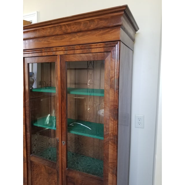 Louis Phillippe Bookcase Vitrine For Sale - Image 9 of 12