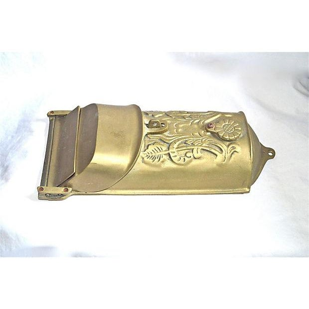Vintage Brass Mailbox With Peephole - Image 8 of 11