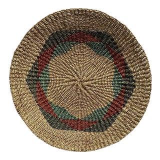 Early 21st Century Filipino Woven Round Abaca Plate