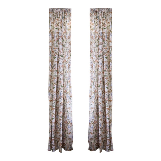 """Pepper Frida Pink 50"""" x 84"""" Blackout Curtains - 2 Panels For Sale"""